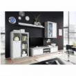 Nappali szekrénysor, fehér/beton, KLARK 1