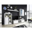 Nappali szekrénysor, fehér/beton, KLARK 2