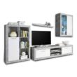 Nappali szekrénysor, fehér/beton, KLARK 3