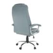 Irodai szék, világosszürke/króm, SAFIN 1