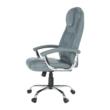 Irodai szék, világosszürke/króm, SAFIN 3