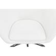 Irodai szék, fehér ekobőr/fém, LENER 2