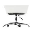 Irodai szék, fehér ekobőr/fém, LENER 4