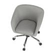 Irodai szék, szürkésbarna anyag/fém, LENER 3