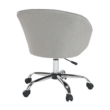 Irodai szék, szürkésbarna anyag/fém, LENER 5