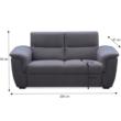 3-személyes kanapé, szürke szövet, csak rendelésre, BORN 2