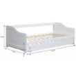Ágy mellékággyal, tűnyalábos fenyőfa/fehér, 90x200, INTRO 1
