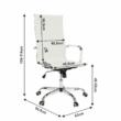 Irodai szék, fehér, AZURE 2 NEW 1