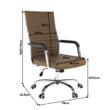 Irodai szék, textilbőr/fém, taupe/króm, FARAN 1