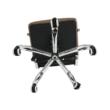 Irodai szék, textilbőr/fém, taupe/króm, FARAN 2