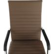 Irodai szék, textilbőr/fém, taupe/króm, FARAN 5