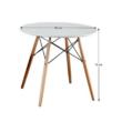 Étkezőasztal,  fehér/bükk, GAMIN NEW 80 1