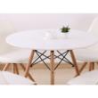 Étkezőasztal,  fehér/bükk, GAMIN NEW 80 2