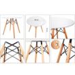 Étkezőasztal,  fehér/bükk, GAMIN NEW 80 3