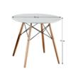 Étkezőasztal,  fehér/bükk, GAMIN NEW 90 1