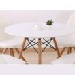 Étkezőasztal,  fehér/bükk, GAMIN NEW 90 2