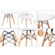 Étkezőasztal,  fehér/bükk, GAMIN NEW 90 3