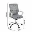 Irodai szék, fehér/szürke, CAGE 1