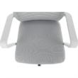 Irodai szék, fehér/szürke, CAGE 5