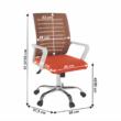 Irodai szék, fehér/narancssárga, CAGE 1