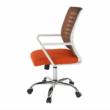 Irodai szék, fehér/narancssárga, CAGE 2