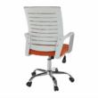 Irodai szék, fehér/narancssárga, CAGE 3