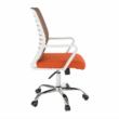 Irodai szék, fehér/narancssárga, CAGE 4