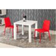 Étkezőasztal, fehér magas fény HG, ASPER NEW TIP 5 1