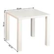 Étkezőasztal, fehér magas fény HG, ASPER NEW TIP 5 2