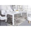 Étkezőasztal, fehér magasfényű HG, ASPER NEW TYP 3 1