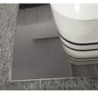 Nyitható étkezőasztal, fehér magasfényű HG/fekete csíkok, TUBAL 3