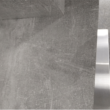 Étkezőasztal, fehér magasfényű HG/beton, FARNEL 3