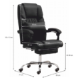 Irodai szék, fekete textilbőr, ARNAUD NEW 1