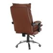 Irodai szék lábtartóval, textilbőr barna, DRAKE 1