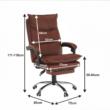 Irodai szék lábtartóval, textilbőr barna, DRAKE 4