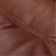 Irodai szék lábtartóval, textilbőr barna, DRAKE 5