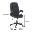 Irodai szék, textilbőr fekete/piros szegély, PORSHE New 1