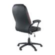 Irodai szék, textilbőr fekete/piros szegély, PORSHE New 2