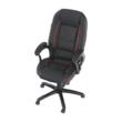 Irodai szék, textilbőr fekete/piros szegély, PORSHE New 3