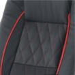 Irodai szék, textilbőr fekete/piros szegély, PORSHE New 5
