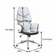 Irodai szék, szövet fehér/fekete műanyag, DELIZ 1