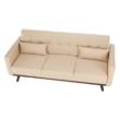 Kinyitható kanapé, bézs, ARKADIA 2