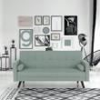 Kinyitható kanapé, zöld-mentol szövet, OTISA 1