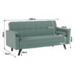 Kinyitható kanapé, zöld-mentol szövet, OTISA 2