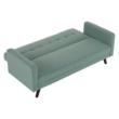 Kinyitható kanapé, zöld-mentol szövet, OTISA 3