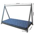 Montessori ágy, tűnyalábos fenyőfa, szürke, GROSI 1