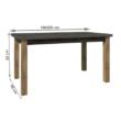 Étkezőasztal, nyitható, tölgy lefkas sötét/smooth szürke, MONTANA STW 1