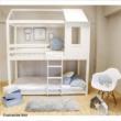Montessori emeleteságy, fehér, 90x200, ATRISA 1