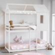 Montessori emeleteságy, fehér, 90x200, ATRISA 2