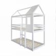 Montessori emeleteságy, fehér, 90x200, ATRISA 3